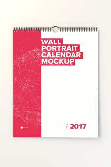 Diseño de mock up de calendario