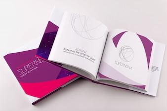 Diseño de mock up de catálogo
