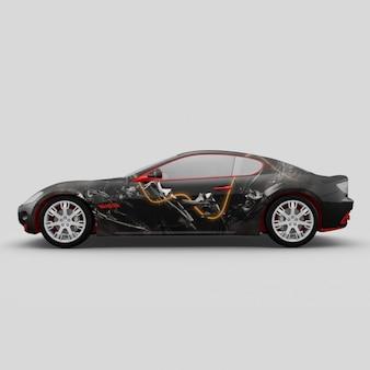 Diseño de mock up de coche