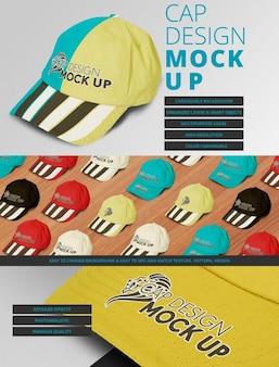 Diseño de mock up de gorra