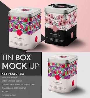 Diseño de mock up de lata