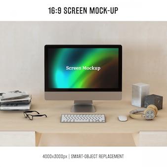 Diseño de mock up de ordenador
