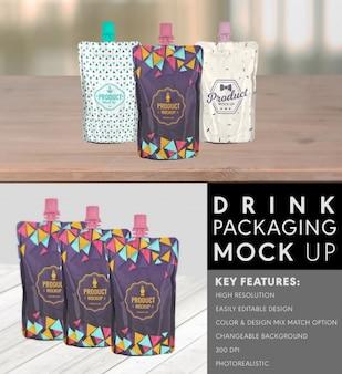 Diseño de mock up de packaging de bebida