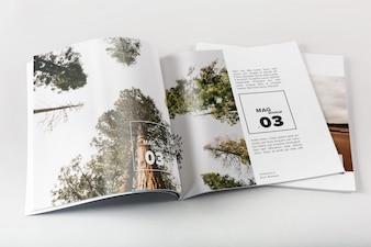 Diseño de mock up de revista