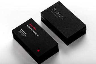 Diseño de mock up de tarjetas de visita
