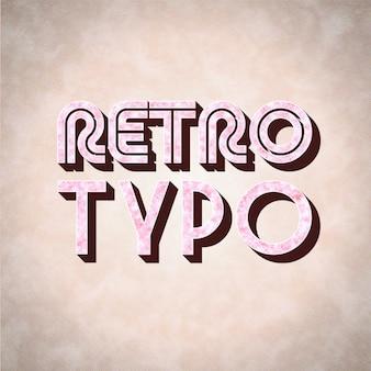 Diseño de tipografía vintage