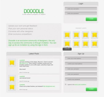 diseño social de diseño de redes psd