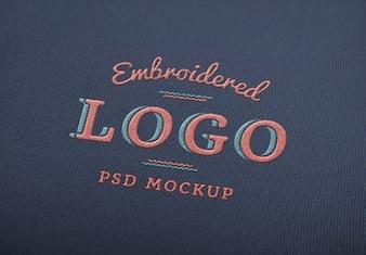 Elegante psd logo maqueta