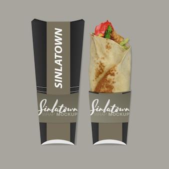 Embalagem de fast food com maquete