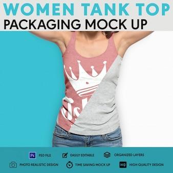 Embalagem de top camisola feminina