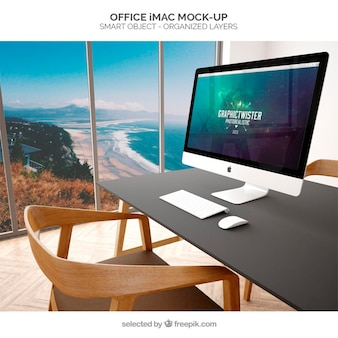 Escritório iMac mockup