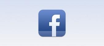 Facebook icono de ios psd