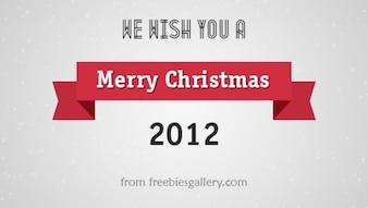 Feliz tarjeta de felicitaciones de navidad