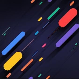 Formas multicolor sobre fondo negro