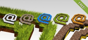 Free 8 Símbolos 3D @