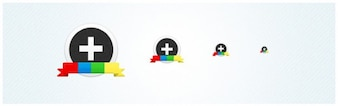 Google Plus (+) Circular Icon Set