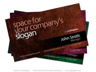 Grunge negocio de tarjetas de Photoshop plantilla