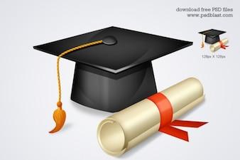 ícone de graduação de alta escola