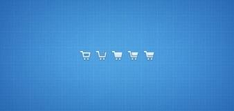 Ícones do carrinho de compras psd png