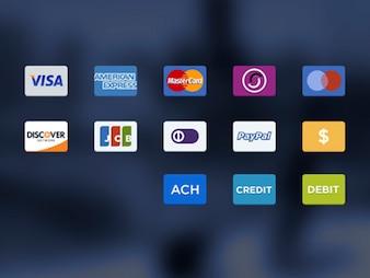 ícones opções de pagamento psd