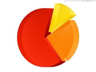 Icono de gráfico circular (PSD)
