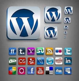 increíbles iconos de redes sociales creado psd png