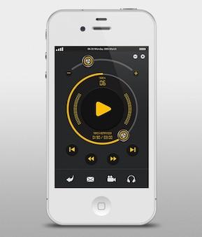 Interfaz de usuario de la manzana del jugador de música