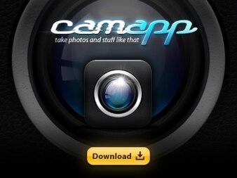 Iphone app cam icon psd
