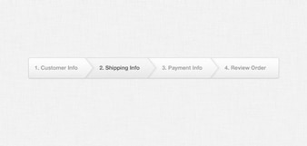 la luz de comercio electrónico pago barra de progreso psd