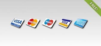 Libre de 5 iconos de tarjetas de crédito