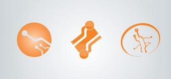 libre electrónica plantilla de logotipo