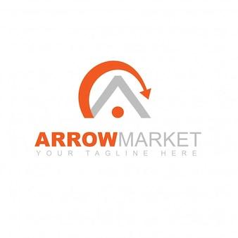 Logo flecha mercado