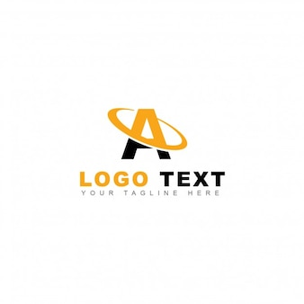 Logotipo amarillo de la letra a
