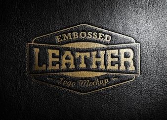 Logotipo de couro estampagem
