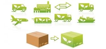 Logotipo de transporte projetos ecológicos