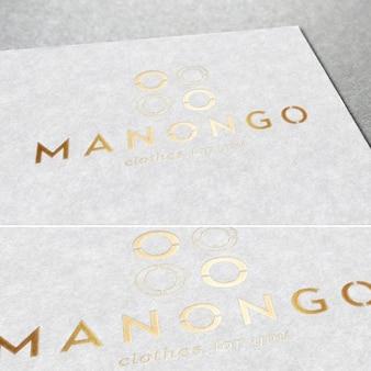 Logotipo dorado elegante