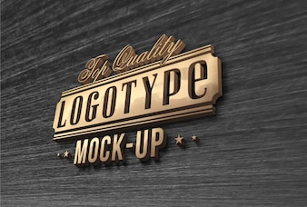Logotipo elegante mock up
