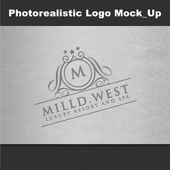 Logotipo fotorrealista de mockup