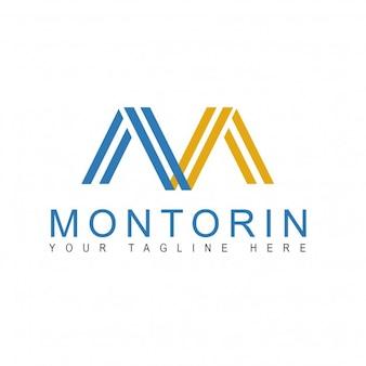Logotipo m abstracta