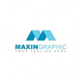 Logotipo m geométrica