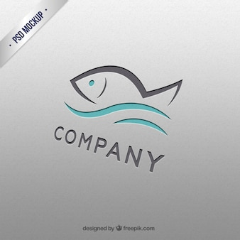 Logotipo modelo Peixe