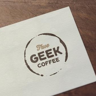 Logotipo realista mock up apresentação