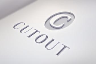 Luz maquete logotipo com detalhes limpas