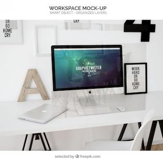 Maqueta del espacio de trabajo