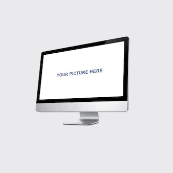 Maqueta realista del monitor