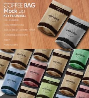 Mock up de bolsa de café