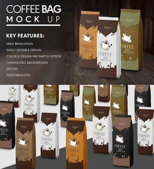 Mock up de bolsas de café