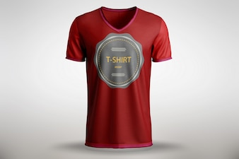 Mock up de camiseta roja