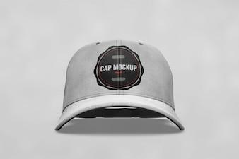 Mock up de gorra con vista frontal