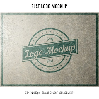 Mock up de logo sellado